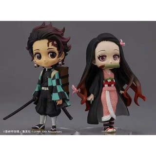 Review ฟิกเกอร์ Anime Demon slayer : kimetsu No yaiba kamado tanjirou / nezuket Q Version PVC Action Figure Model Qposket