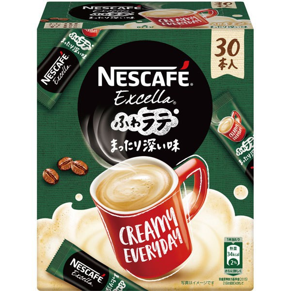 Nestle Japan Nescafe Excella Fluffy Latte Deep Flavor 30 Pieces - Direct from Japan