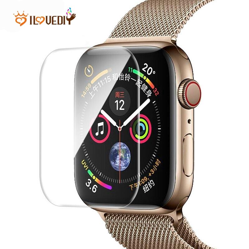 ฟิล์มกันรอยหน้าจอสําหรับ apple watch series 5 & series 4/tpu full cover ขนาด 40 มม. 44 มม.
