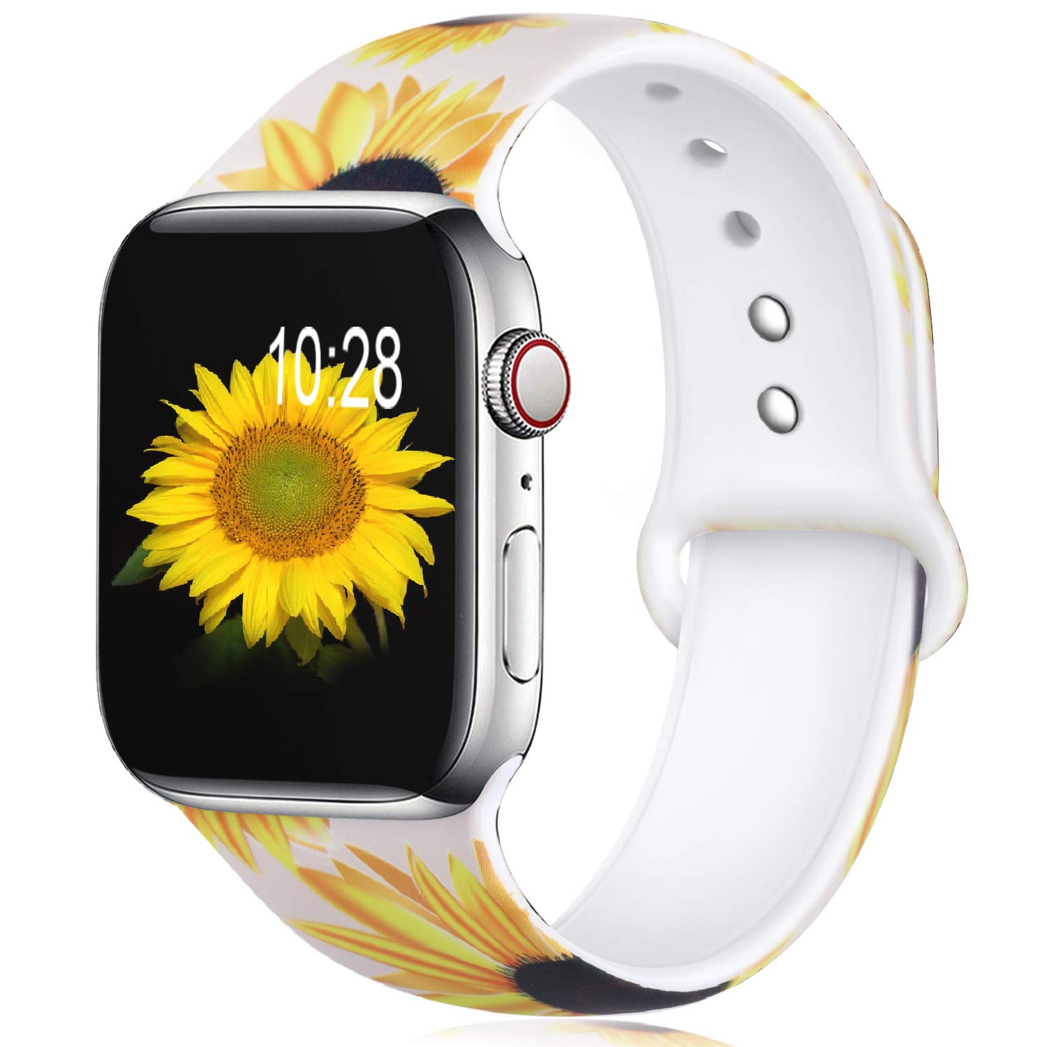 Apple Watch Silicone Strap Soft Band Series 6 5 4 3 2 1 38/40 42/44mm Color Printing Sports Sweatproof Breathable Wristband