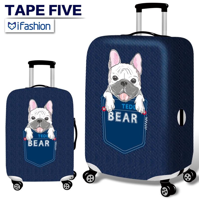 ผ้าคลุมกระเป๋าเดินทาง สร้างสรรค์เครื่องบิน  กระเป๋าเดินทางป้องกันกรณีกันน้ำ Thicken กระเป๋าเดินทางใช้ 18-32