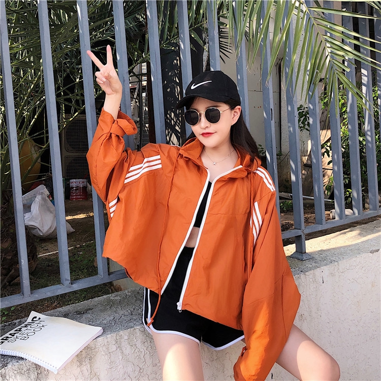 เสื้อโค้ท เสื้อโค้ทเสื้อผ้า 🍑 เสื้อโค้ทสั้นคลุมด้วยผ้า ครีมกันแดดฤดูร้อนปี 2019 เวอร์ชั่นเกาหลีที