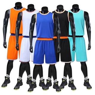 New High Quality Men Basketball Set Uniforms Kits Sports Clothes Kids Basketball Jerseys Kids College Tracksuits DIY Cus