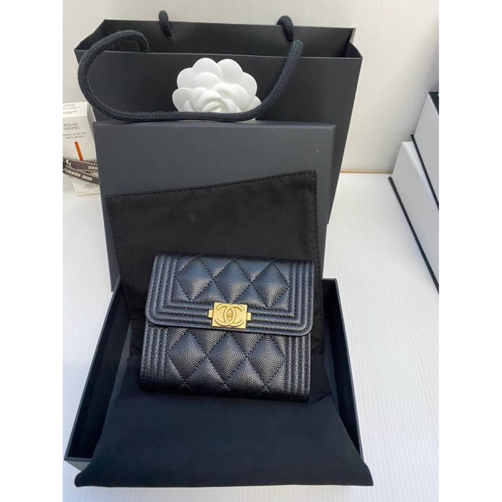 New Chanel Wallet 3พับ boy รุ่นใหม่ holo30 ของแท้ 100%
