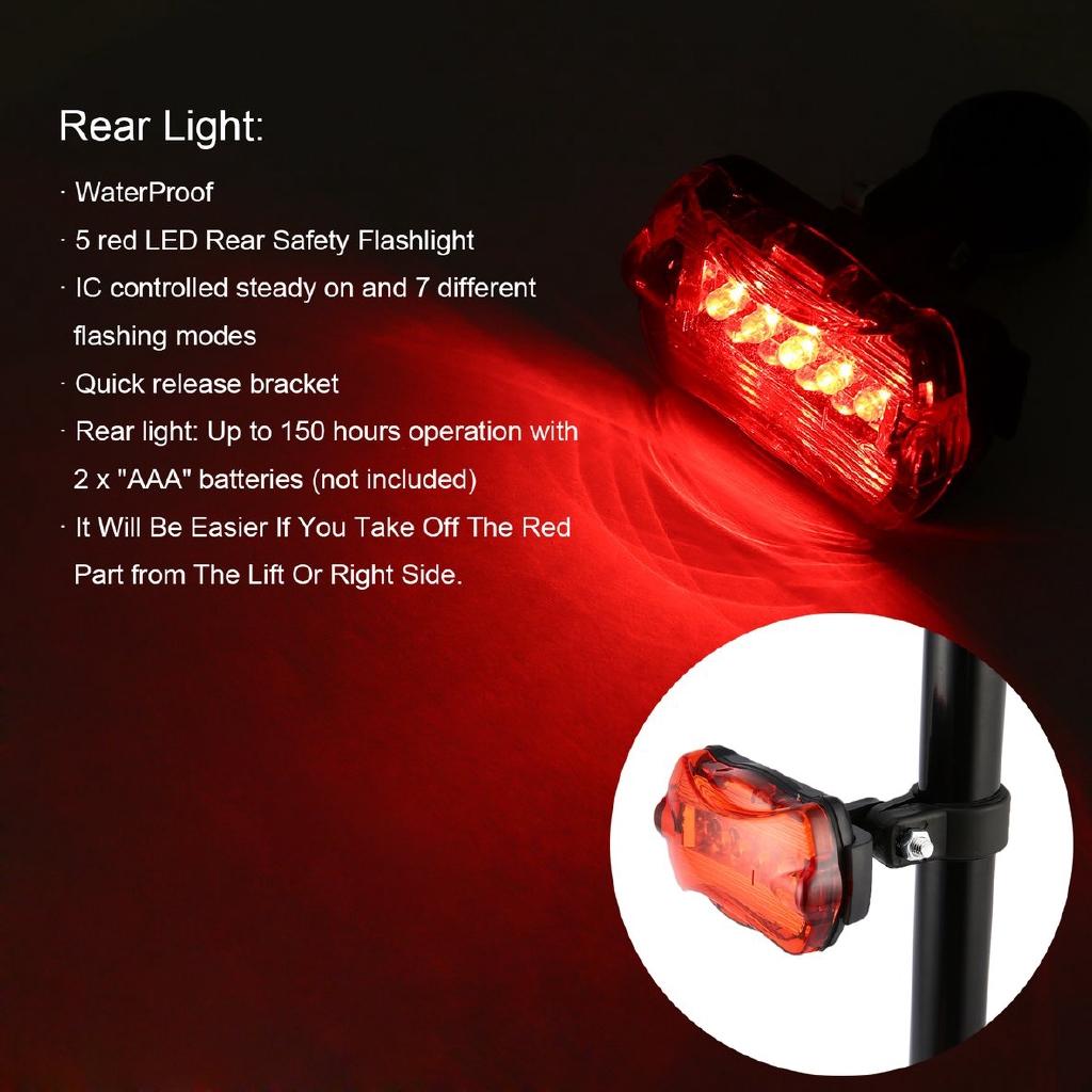 Flashing Bike Cycling LED Rear Safety Light Warning Tail Lamp Waterproof New