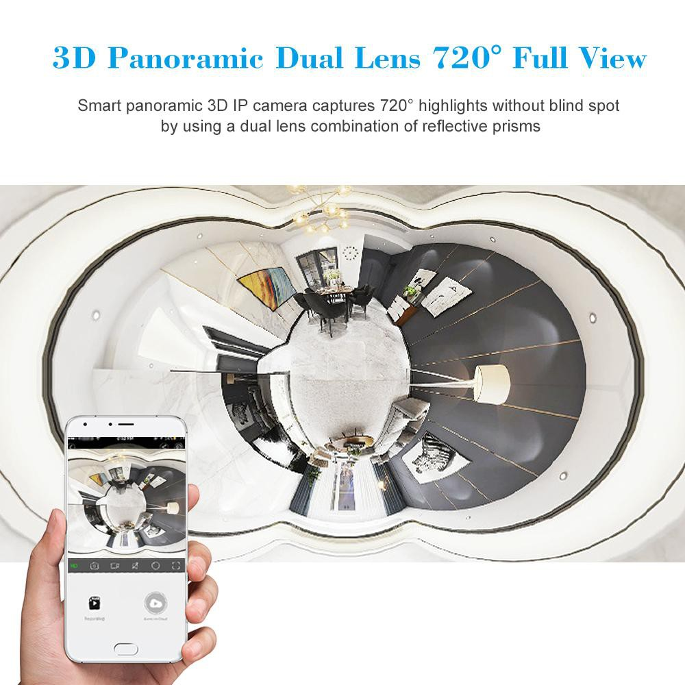 Sale WiFi Panoramic Camera 1080P Fish Eye Dual Lens 720