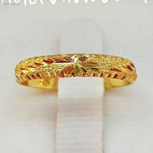 ราคาต่ำสุด☾💥SALE แหวนทองแท้ 1.0 กรัม ไซด์ 45ถึง63