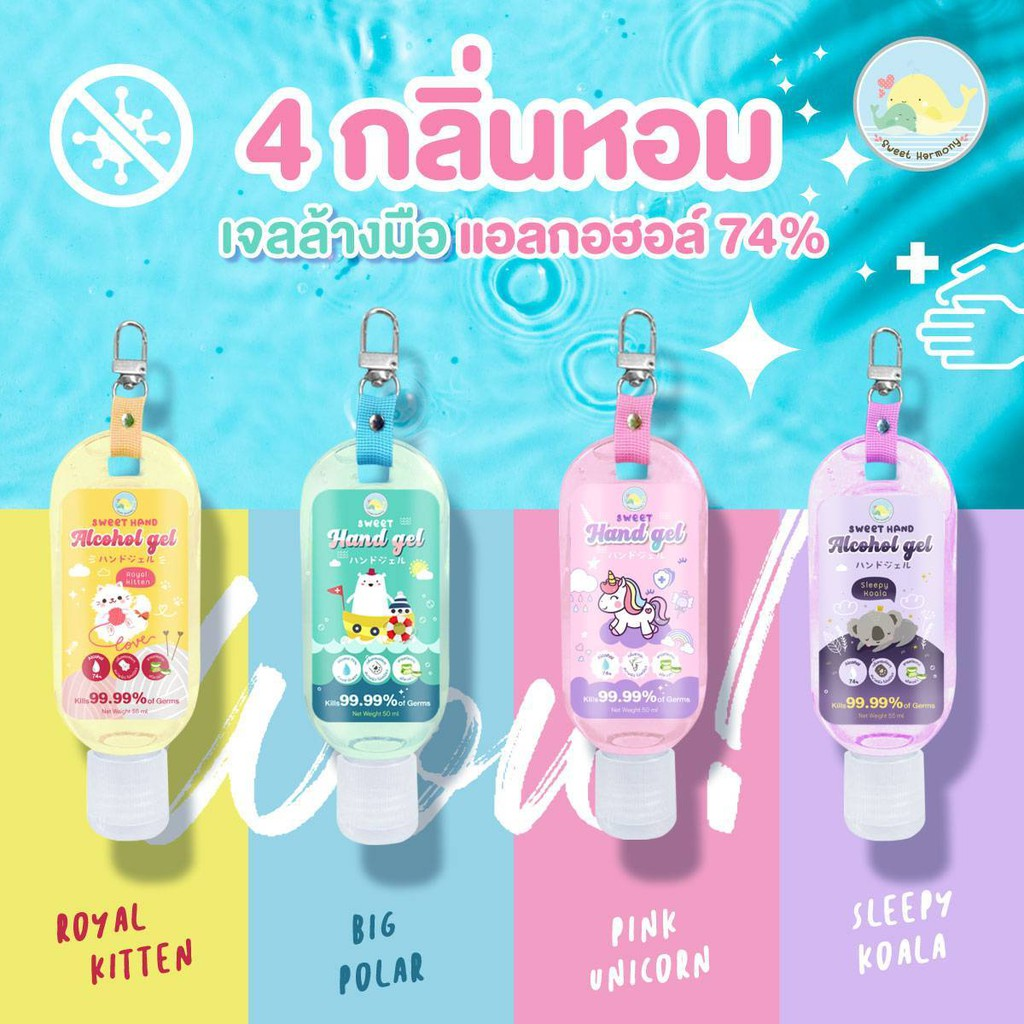 Sweet hand gel food grade เจลแอลกอฮอร์ เจลล้างมือ เจลล้างมือเด็ก แบบพกพา