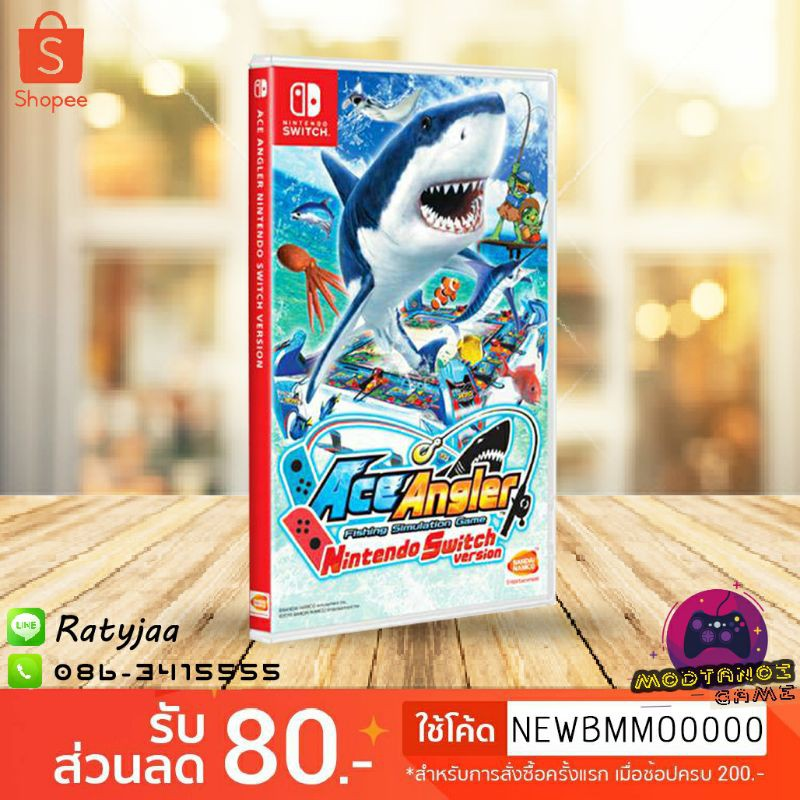 ACE ANGLER fihsing simulation game for nintendo switch