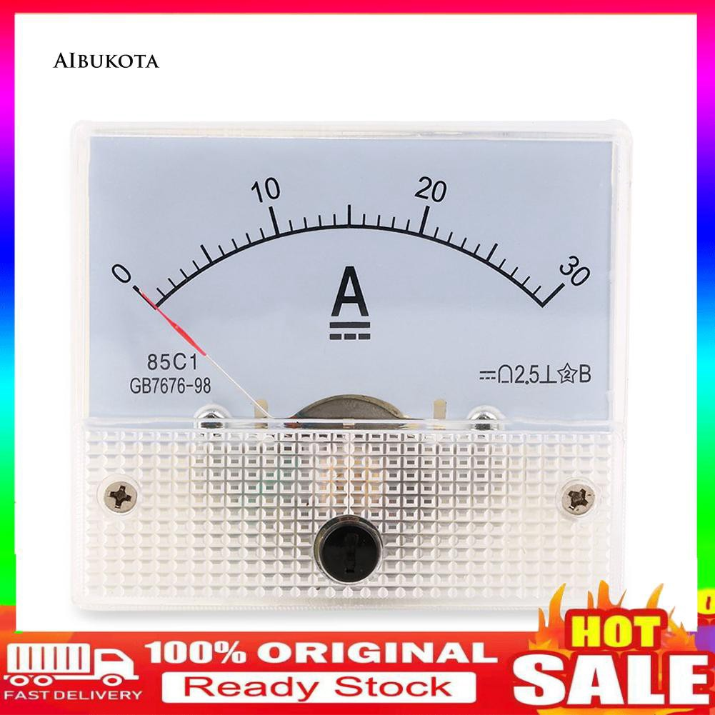 DC 30A Analog Ammeter Panel AMP Current Meter 0-30A DC Doesn/'t Need Shunt MX