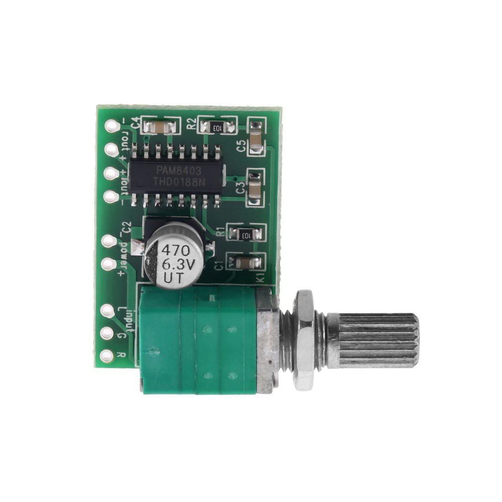 แผงวงจร MINI PAM 8403 5 V 2 Channel USB Power Audio Amplifier Board