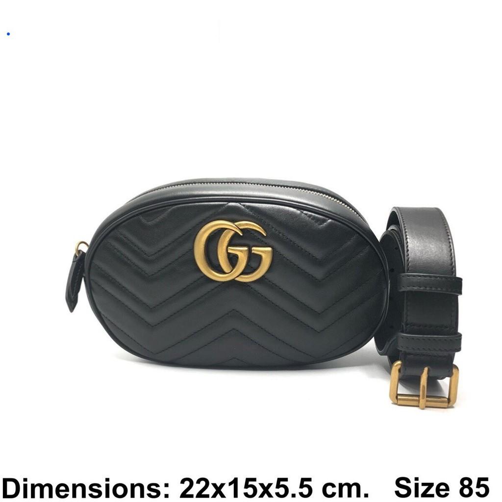[กระเป่า]GUCCI Marmont Belt Bag ของแท้ 100% [ส่งฟรี]