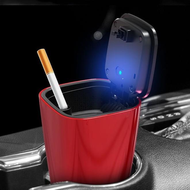 ที่เขี่ยบุหรี่ในรถยนต์ มีไฟLED Light DY-001 รถยนต์  ที่เขี่ยบุหรี่ติดรถยนต์ ashtray cigarette holder ใช้งานดี คุณภาพดี