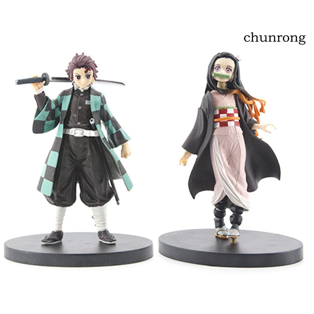 CR+Demon Slayer Kamado Nezuko Action Figure Table Decor Handmade Model Kids Toy