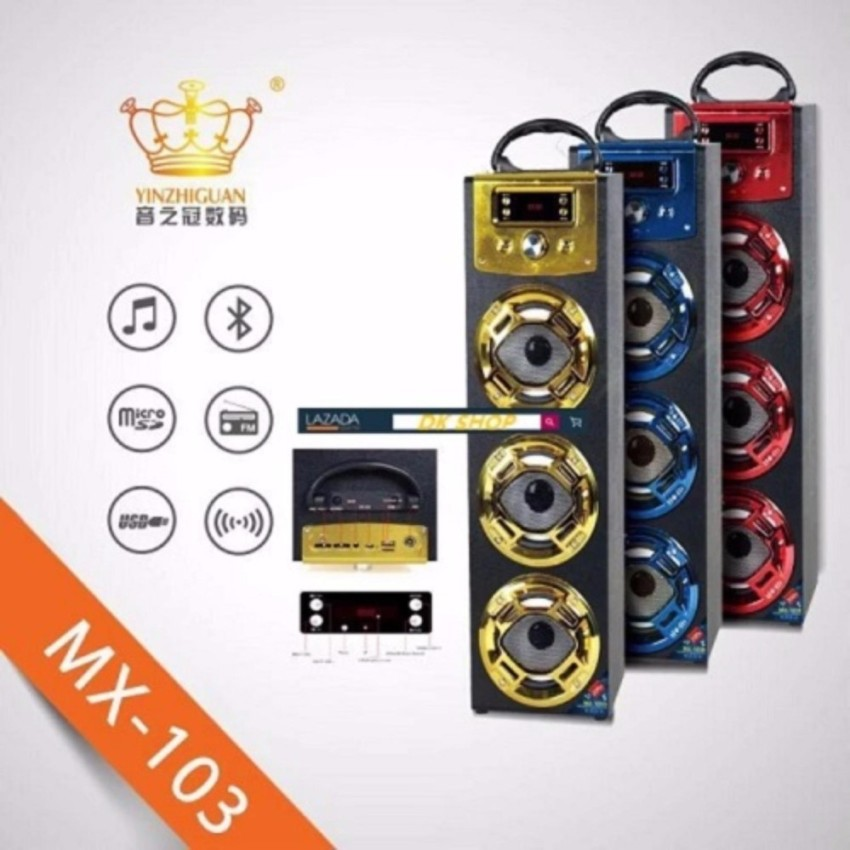 Musiccrown Bluetooth speaker audio square amplifier outdoor subwoofer Sound  Blaster MX-103 Kara OK