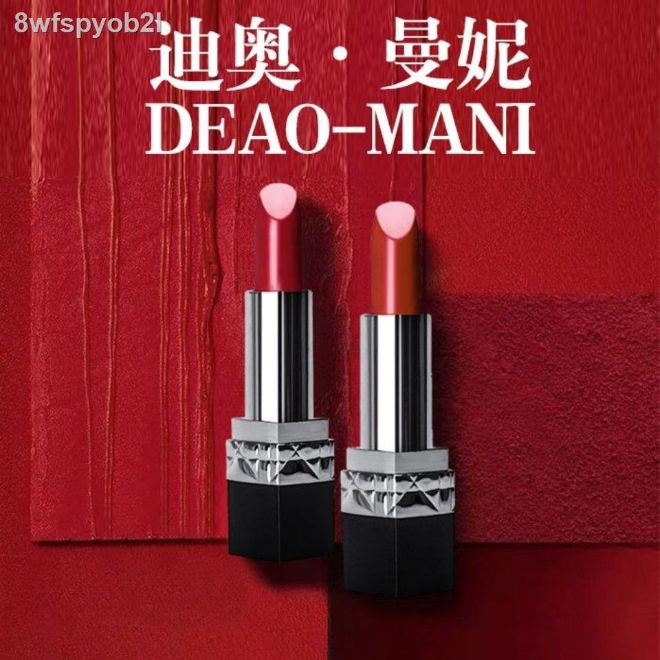 Dior ลิปสติก♤☒Dior แท้ Manny Lipstick Moisturizing, ไม่ซีดจาง 999/888/520 Red Matte Student Gift Box