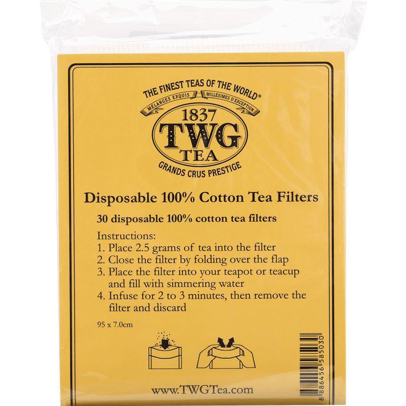 Shu Yunjia [Single Shot Link] TWG Tea ถุงชาฝ้ายแท้ 30 ชิ้น