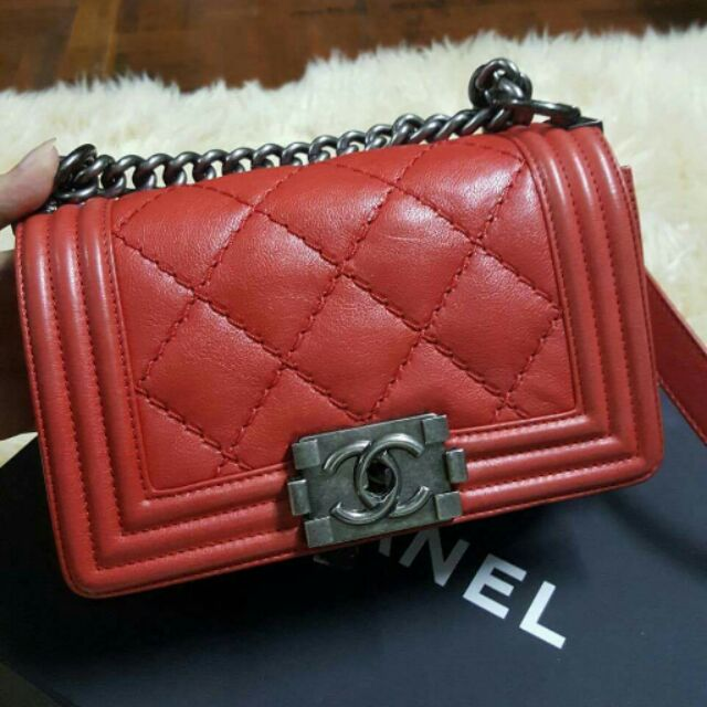 Chanel boy size 8 แท้