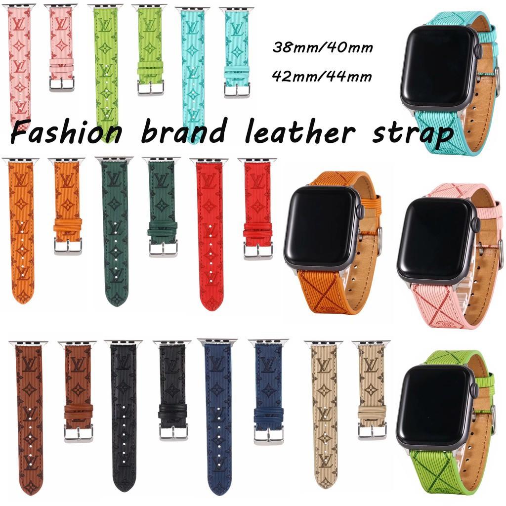 Fashion Leather strap Apple iwatch LV leather watch strap for Apple Watch Series1  2 3 4 5  Apple Watch iwatch 38mm / 40mm / 42mm 44mm T500 W26 U78 PLSU high quality Strap