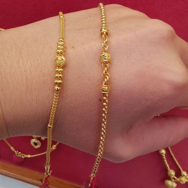 ซื้อเฮง ใส่ดี สร้อยมือทอง 96.5%  น้ำหนัก 1 สลึง ยาว 17cm ราคา 7,950บาท