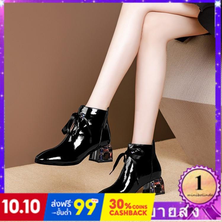 ⭐👠รองเท้าส้นสูง หัวแหลม ส้นเข็ม ใส่สบาย New Fshion รองเท้าคัชชูหัวแหลม  รองเท้าแฟชั่นรองเท้าผู้หญิงใหม่รองเท้าเปลือยหนัง