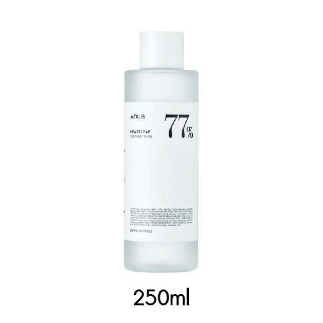 ♣ANUA : HEARTLEAF 77% SOOTHING TONER 250 ml✸