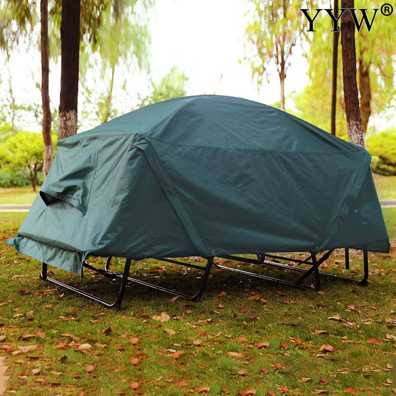Please COD Green 2 Person Tent Outdoor Nature Hike Camping Tent Travel Rest Car Travel Easy To Set Oxford Cloth Waterpro