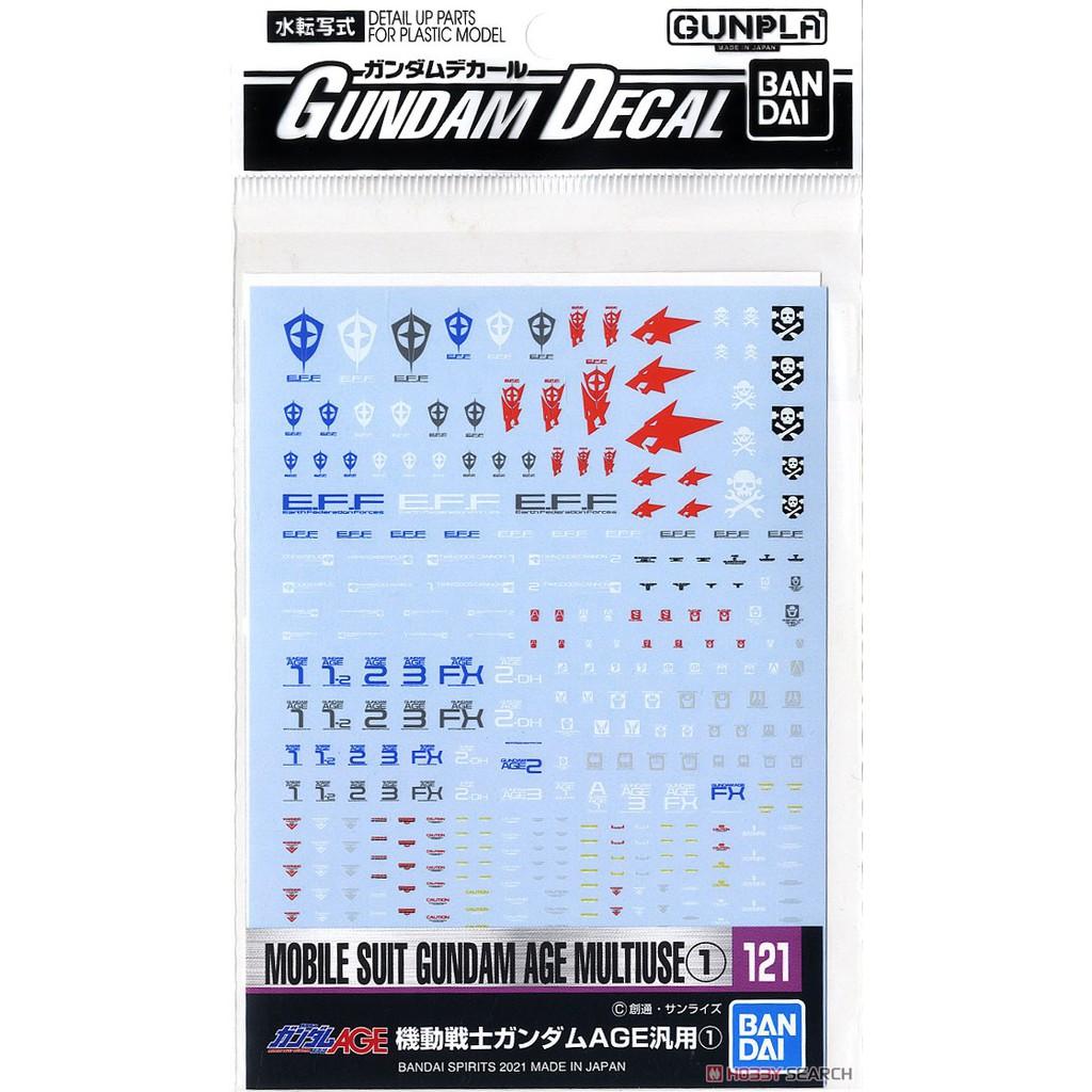 BANDAI Gundam Decal (HG) Mobile Suit Gundam AGE Series (1) 4573102619853