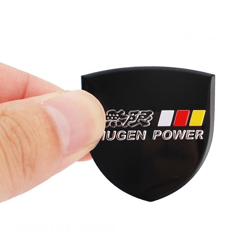 POWERED By HONDA logo Aluminium Alloy Car Badge Emblems Race Fit For Honda Auto