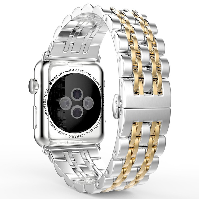สายนาฬิกาข้อมือสแตนเลสโลหะสําหรับ Applewatch