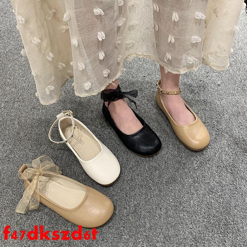รองเท้าคัชชู bataรองเท้า Doudou ผู้หญิงฤดูใบไม้ผลิปี 2020 ใหม่รุ่นเกาหลีทั้งหมดตรงกับนักเรียนก