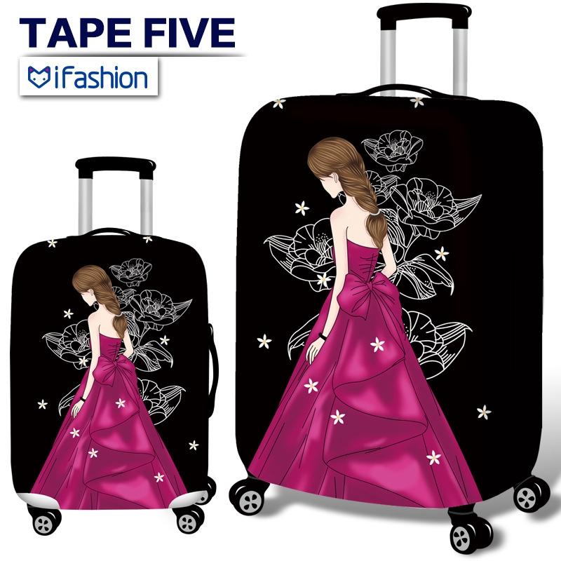ผ้าคลุมกระเป๋าเดินทาง สัตว์เลี้ยง  กระเป๋าป้องกันกรณีกันน้ำ ยืดหยุ่นกระเป๋าเดินทางกรณี 18-32