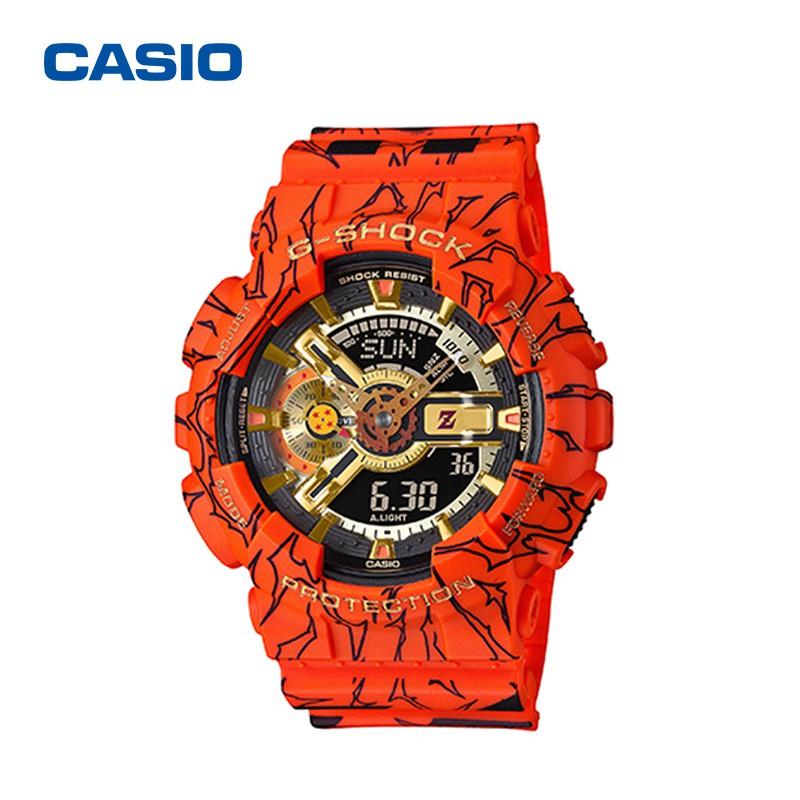 [นากะ]CASIO G-SHOCK นาฬิกาข้อมือแฟชั่นในรูแบบ Dragon Ball รุ่น GA-110JOB-1A4 สุดฮอตในปี2020 หน้าปัด40mm พร้อมกล่อง