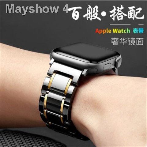 🔥สินค้าคุณภาพราคาถูก🔥เหมาะสำหรับ Applewatch se สายเซรามิก Apple iwatch 1/2/3/4/5 รุ่นสายรัดข้อมือ series6 <11