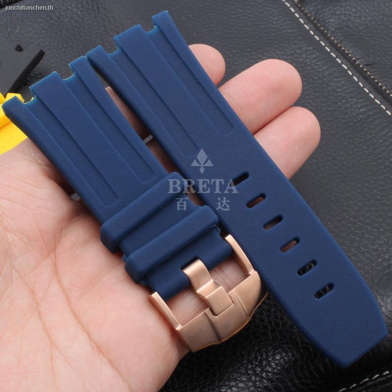 🔥สายนาฬิกาข้อมือ🔥✾❐Compatible with AP Royal Oak strap Audemars Piguet offshore silicone mechanical watch accessories 28mm camouflage rubber pin buckle