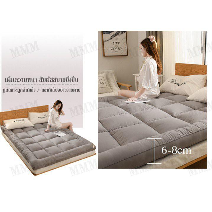 MMM ท็อปเปอร์ Topper 6 ฟุต ที่นอน เบาะรองที่นอนขนห่านเทียม นอนสบายหนานุ่มๆ รุ่นหนาพิเศษ 4 นิ้ว เกรดพรีเมีย( 3F 5F 6F) c6