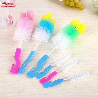 HW 2pcs/set Baby Nipple Milk Bottle Cleaning Brushes Infant Sponge Cleaner Pacifier Brush Cup Cleaner Brush