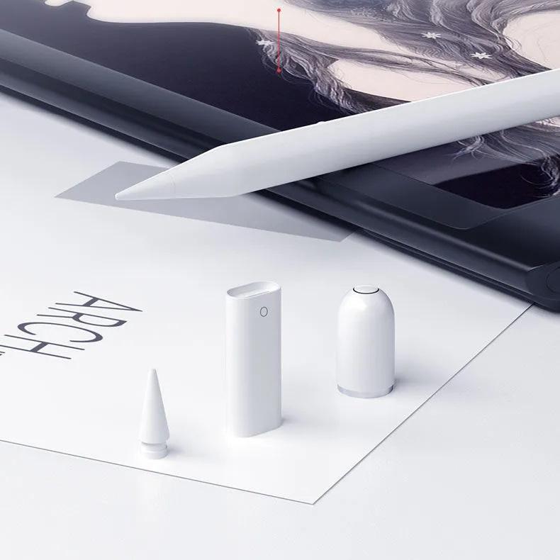 △❃[1 ชุด] ปลายปากกา Apple Pencil 1 2 หัวปากกา applepencil Lightning Adapter Magnetic Cap อแดปเตอร์ปากกาสำรอง tip nib Pen