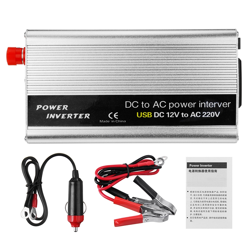 4000W Car Power Inverter DC 12V TO AC 220V Modified Sine Wave Camping  Inverter