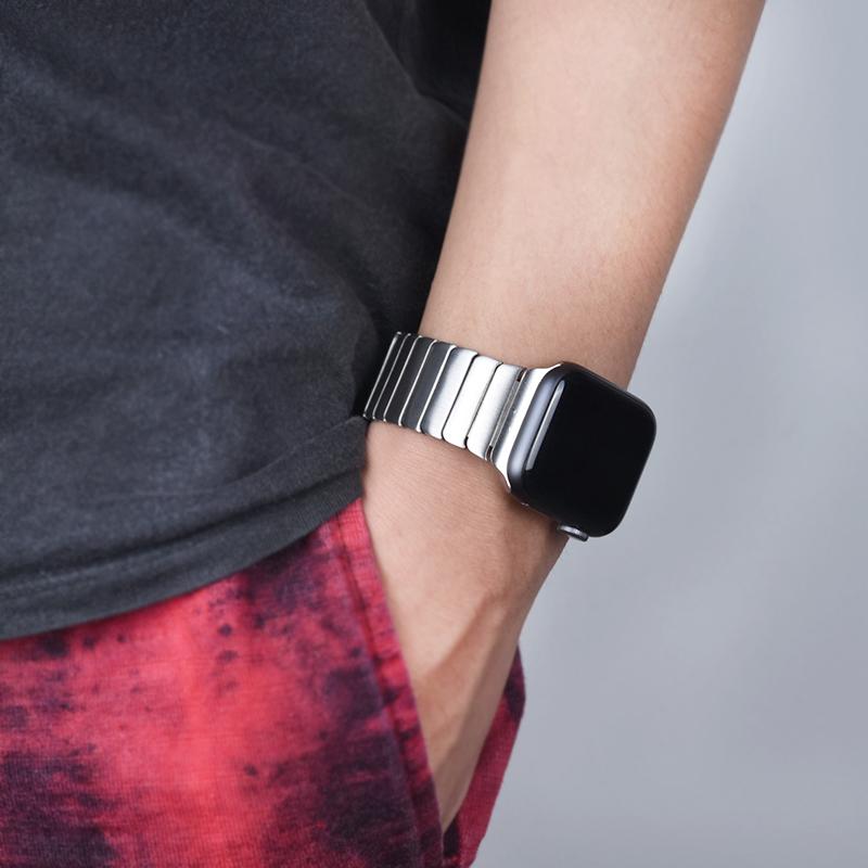 ❤♨สายนาฬิกา applewatchสายนาฬิกา gshockบังคับApple Watchสายธุรกิจapplewatchสายรัดโซ่ที่เรียบง่าย56รุ่นโซ่เหล็กโลหะiWatch