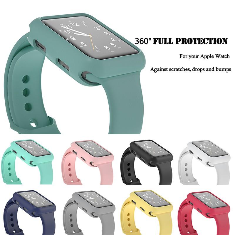 เคส + สายนาฬิกาข้อมือสําหรับ Apple Watch 6 5 4 Se Band 44มม. 40มม. Iwatch Band 42มม. 38มม. กันชนสําหรับ Apple Watch Apple Watch Series 6 Se 5 4 3 2 1
