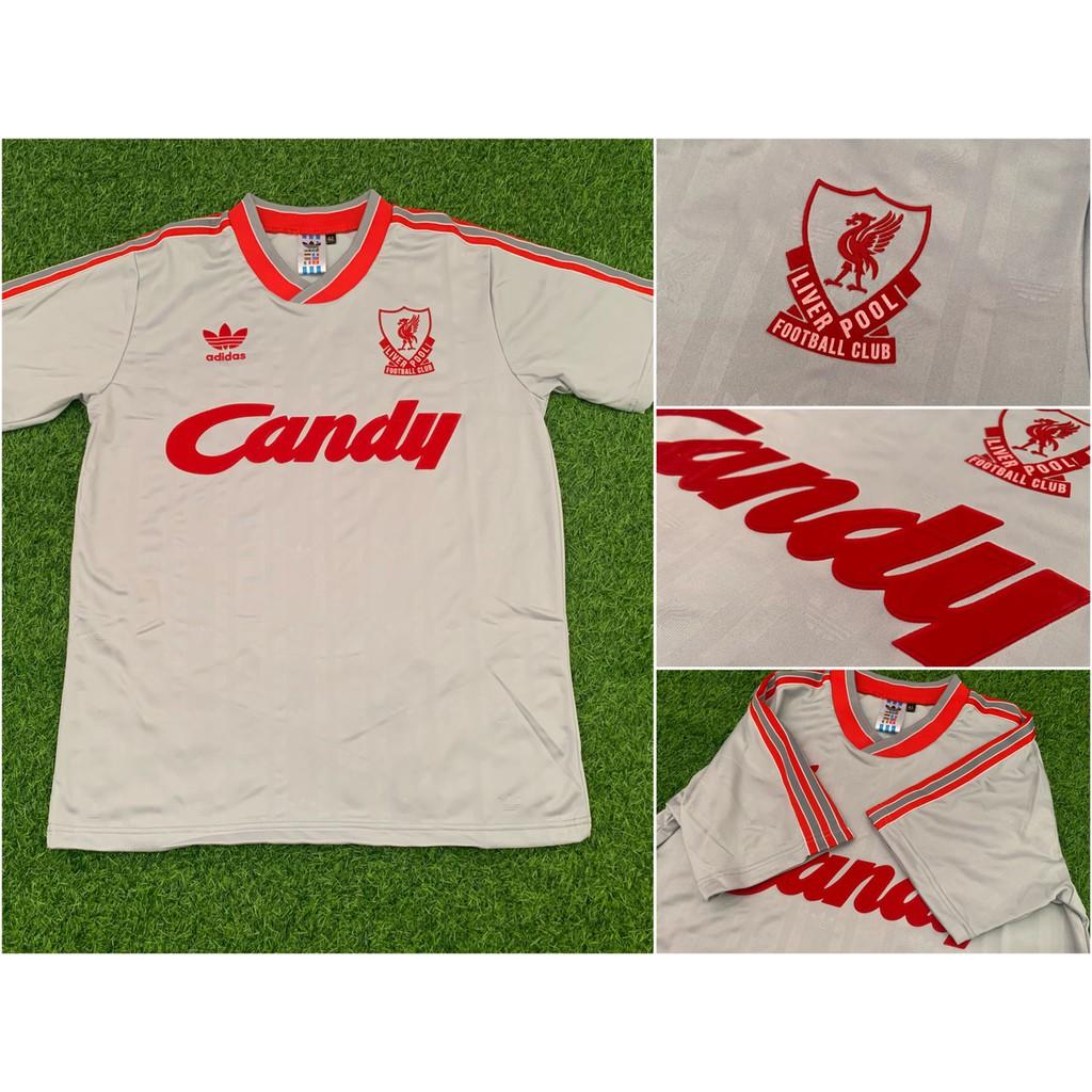เสื้อลิเวอร์พูล (Liverpool Away 1989 รุ่น Candy สีเทา )