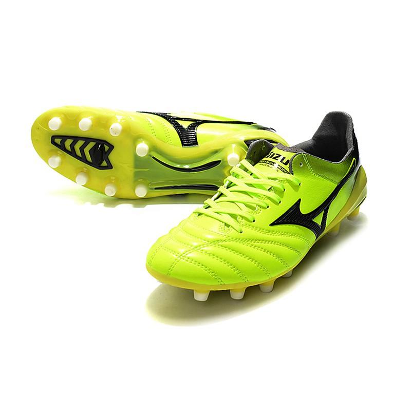 ใหม่■MIZUNO Mizuno MORELIANEO2FG Nissan FG เขียวรองเท้าฟุตบอล Mizuno Morelia Neo II Made in Japan   รองเท้าฟุตซอลหุ้มข้อ