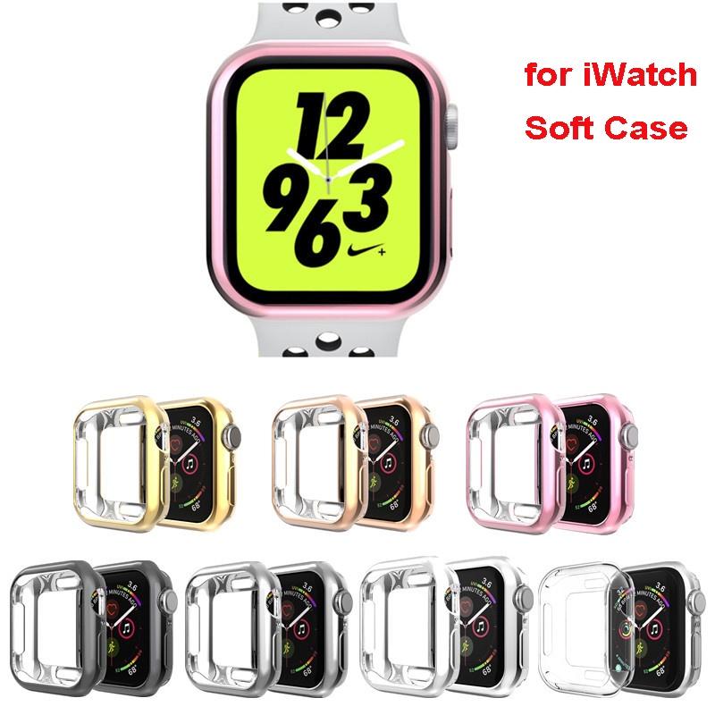 Soft TPU Case สำหรับ Apple Watch Case 38mm 42mm 40mm 44mm Iwatch Series 6 SE 5 4 3 2 1 กรอบป้องกัน TPU Soft Cover