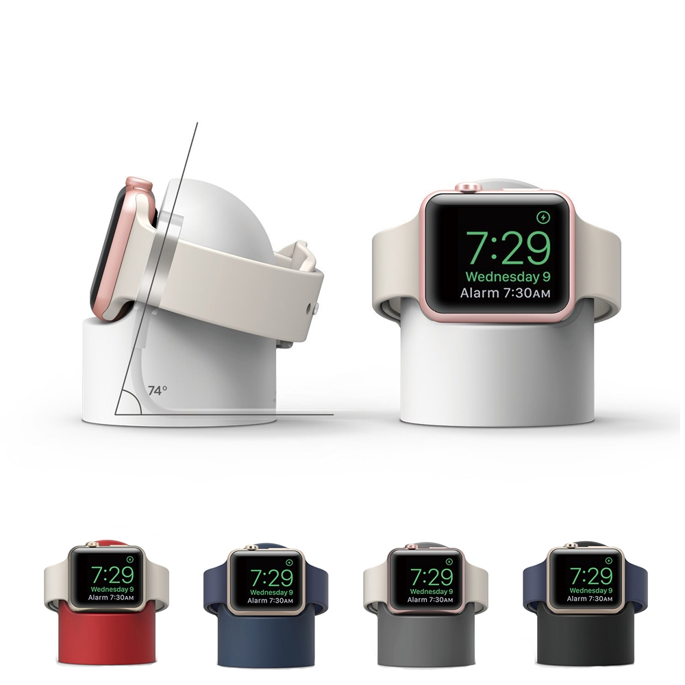 Apple Watch Series Se 6 5 4 3 2 1 38MM 42MM 40MM 44MM Iwatch ตัวยึดสายเคเบิลซิลิโคน ดูฐานการชาร์จ