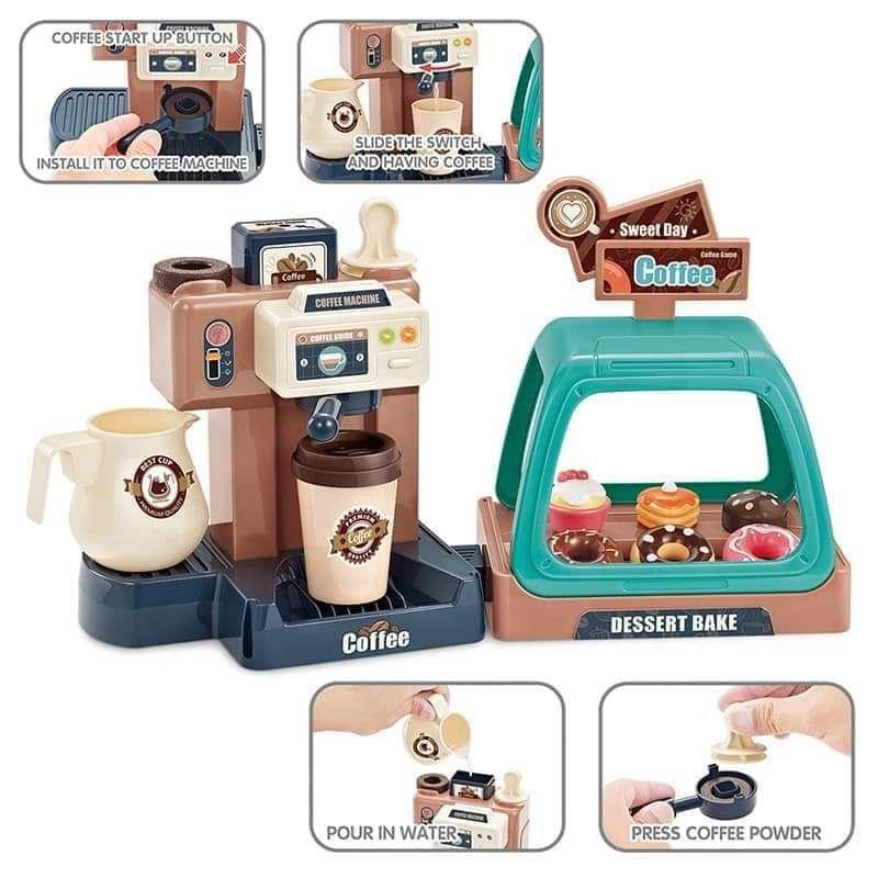 เครื่องทำกาแฟ ร้านกาแฟ ของเล่นเด็ก 41 ชิ้น มีเสียง มีไฟ ใส่น้ำได้จริง Coffee Bar.