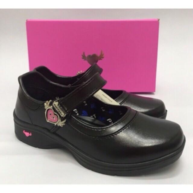 POPTEEN รองเท้านักเรียนPOPTEEN  รองเท้านักเรียนสีดำเด็กผู้หญิง รองเท้านักเรียนเด็กผู้หญิง รองเท้าคัชชูเด็กผู้หญิง รุ่นP