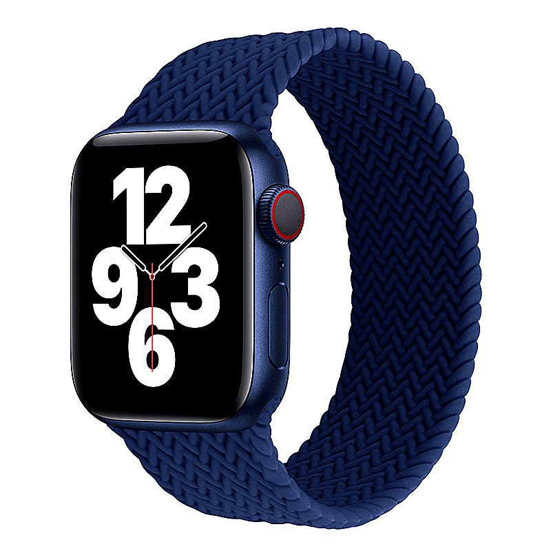 Silicone Strap For Apple Watch band 44mm 40mm 38mm 42mm braided solo loop watchband Elastic bracelet iWatch Series 6 5 4
