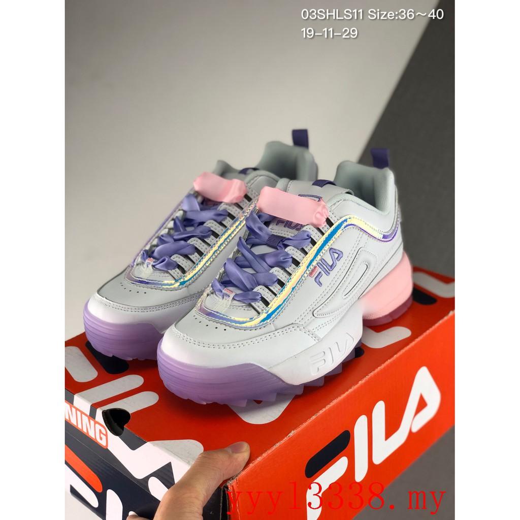 สต็อกพร้อม Fila Disruptor 2 รองเท้าลำลอง รองเท้ากีฬา รองเท้าวิ่ง