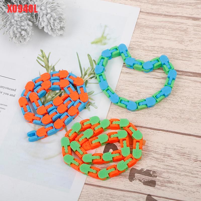 Random Color Funny Fidget Chain Anti Stress Toy For Kids Adult Chain Fidget